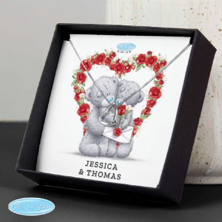 Personalised Me to You Heart Necklace and Box